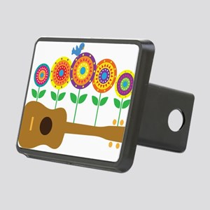 Ukulele Flowers Rectangular Hitch Cover