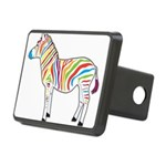 Multicolor Zebra Rectangular Hitch Cover
