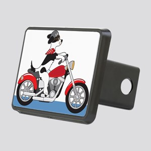 Dog Motorcycle Rectangular Hitch Cover