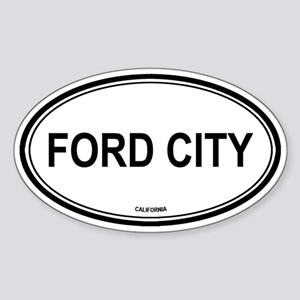 Ford City oval Oval Sticker