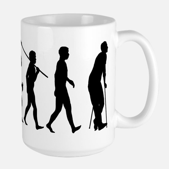On Crutches Large Mug