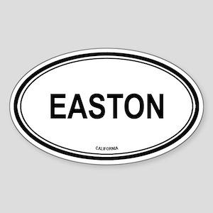 Easton oval Oval Sticker