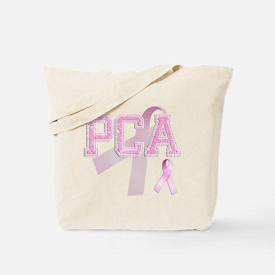 PCA initials, Pink Ribbon, Tote Bag