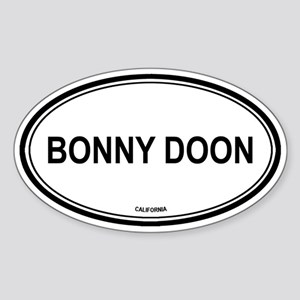 Bonny Doon oval Oval Sticker