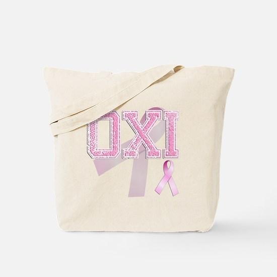 OXI initials, Pink Ribbon, Tote Bag