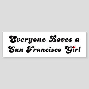 San Francisco girl Bumper Sticker