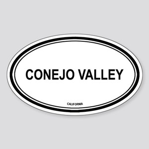 Conejo Valley oval Oval Sticker