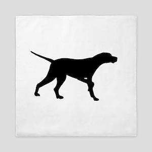 Pointer Dog On Point Queen Duvet