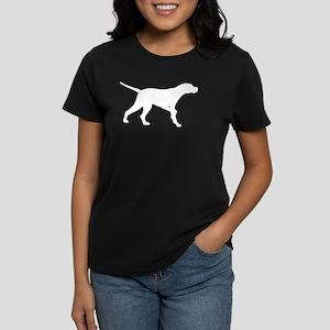 Pointer Dog On Point Women's Dark T-Shirt