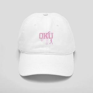OKU initials, Pink Ribbon, Cap
