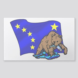 Alaskan Bear Flag Sticker (Rectangle)