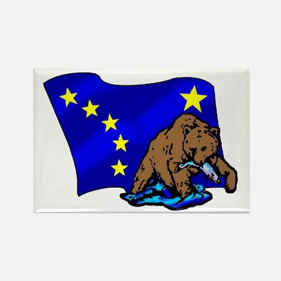 Alaskan Bear Flag Rectangle Magnet