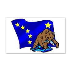 Alaskan Bear Flag Wall Decal