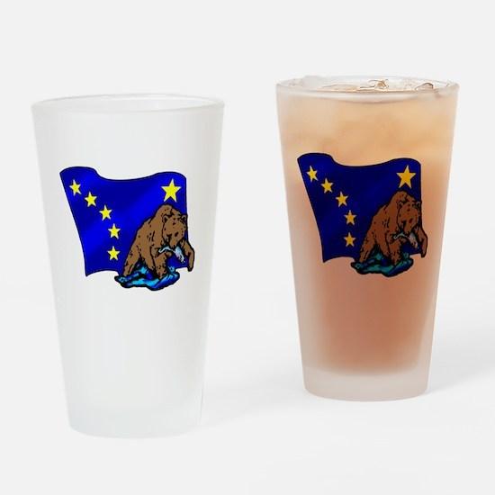 Alaskan Bear Flag Drinking Glass