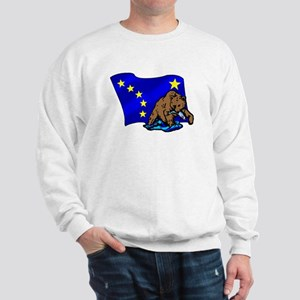 Alaskan Bear Flag Sweatshirt