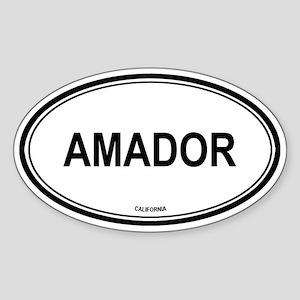Amador oval Oval Sticker