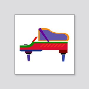 "Funky Piano Square Sticker 3"" x 3"""