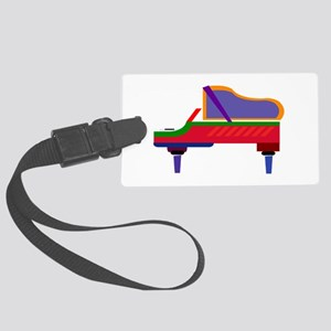 Funky Piano Large Luggage Tag