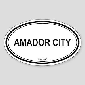 Amador City oval Oval Sticker