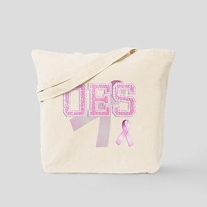 OES initials, Pink Ribbon, Tote Bag
