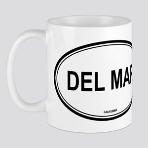 Del Mar oval Mug