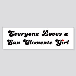 San Clemente girl Bumper Sticker