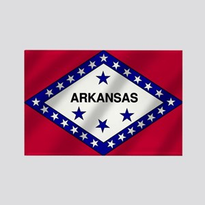 Arkansas State Flag Rectangle Magnet
