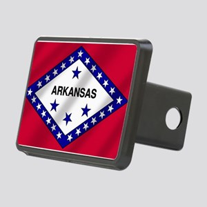 Arkansas State Flag Rectangular Hitch Cover