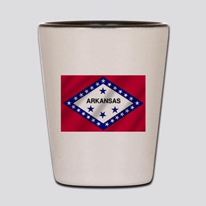Arkansas State Flag Shot Glass