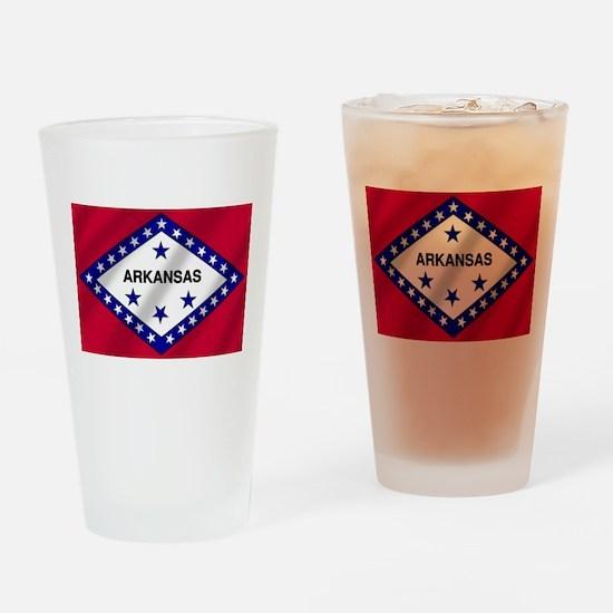 Arkansas State Flag Drinking Glass