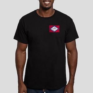 Arkansas State Flag Men's Fitted T-Shirt (dark)