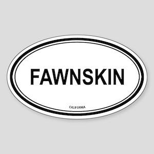 Fawnskin oval Oval Sticker