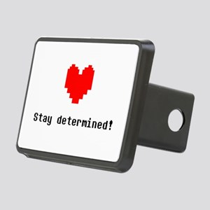 Stay Determined - Blk Rectangular Hitch Cover