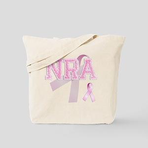 NRA initials, Pink Ribbon, Tote Bag
