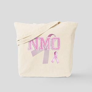 NMO initials, Pink Ribbon, Tote Bag