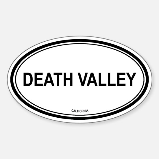 Death Valley oval Oval Decal