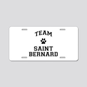 Team Saint Bernard Aluminum License Plate