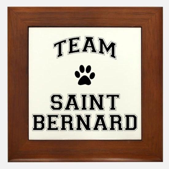 Team Saint Bernard Framed Tile
