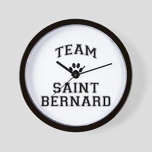 Team Saint Bernard Wall Clock