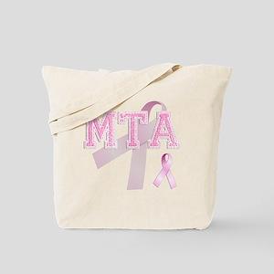 MTA initials, Pink Ribbon, Tote Bag