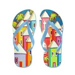 Little Village - Tropical Beach Houses Flip Flops