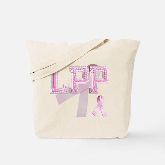 LPP initials, Pink Ribbon, Tote Bag