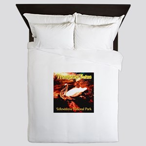 Trumpeter Swan Yellowstone National Pa Queen Duvet