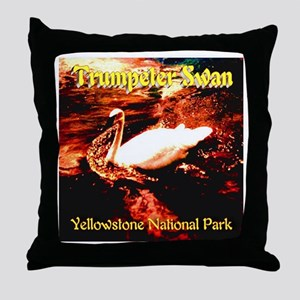 Trumpeter Swan Yellowstone National P Throw Pillow