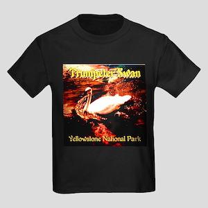 Trumpeter Swan Yellowstone Natio Kids Dark T-Shirt