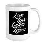 Live, Love, Laugh, Learn Large Mug