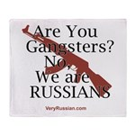 Russians/Gangsters Throw Blanket