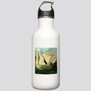 Trumpeter Swan Feeding Stainless Water Bottle 1.0L