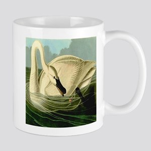 Trumpeter Swan Feeding in Wake Mug