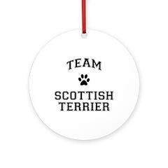 Team Scottish Terrier Ornament (Round)